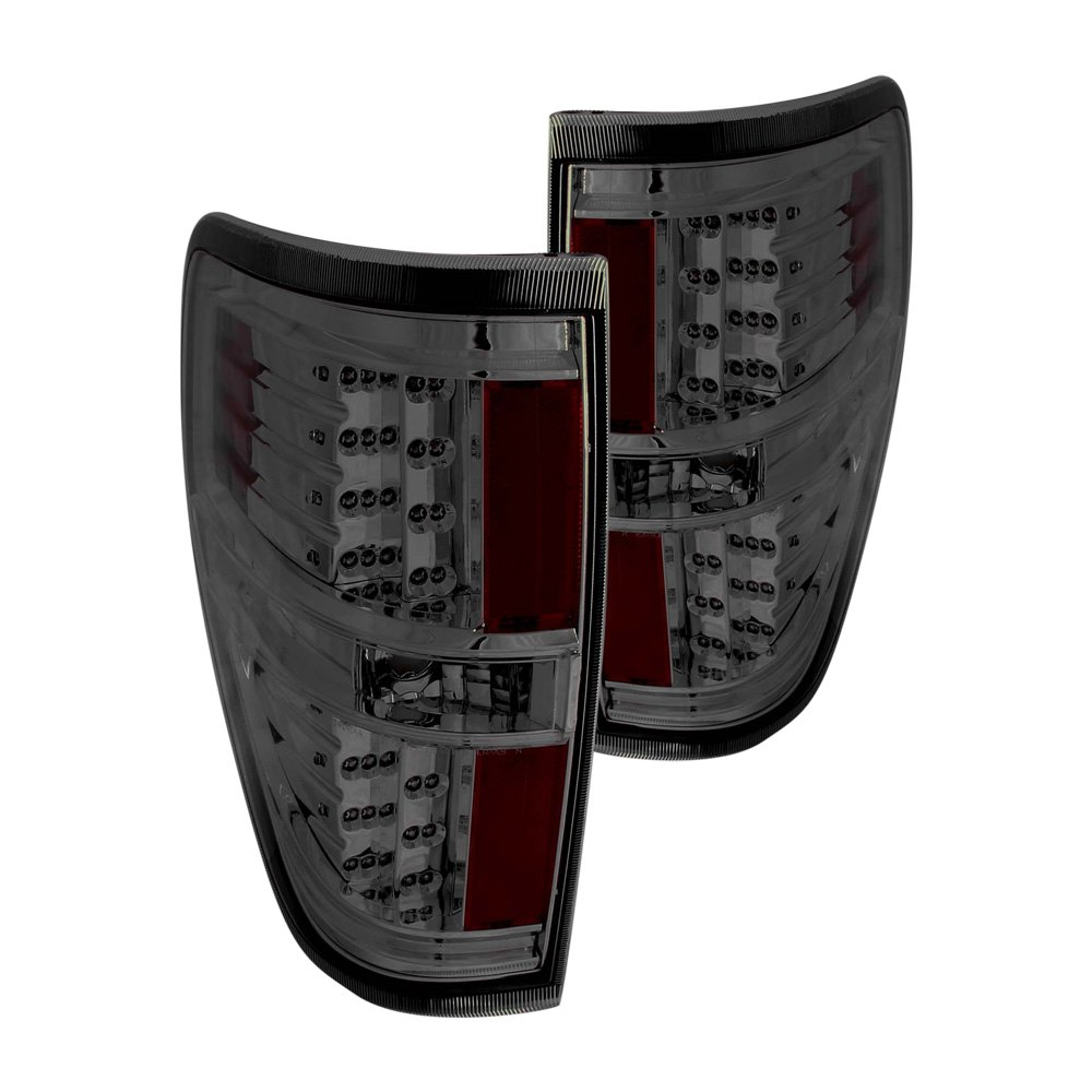 anzo 311170 ford f 150 2009 smoke led tail lights. Black Bedroom Furniture Sets. Home Design Ideas