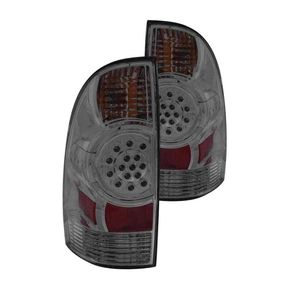 anzo 311179 toyota tacoma 2005 2013 smoke led tail lights. Black Bedroom Furniture Sets. Home Design Ideas