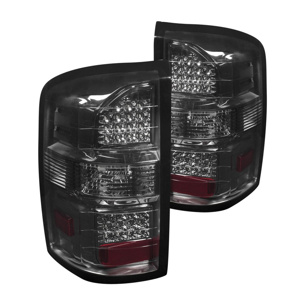 anzo 311218 gmc sierra 2014 smoke led tail lights. Black Bedroom Furniture Sets. Home Design Ideas