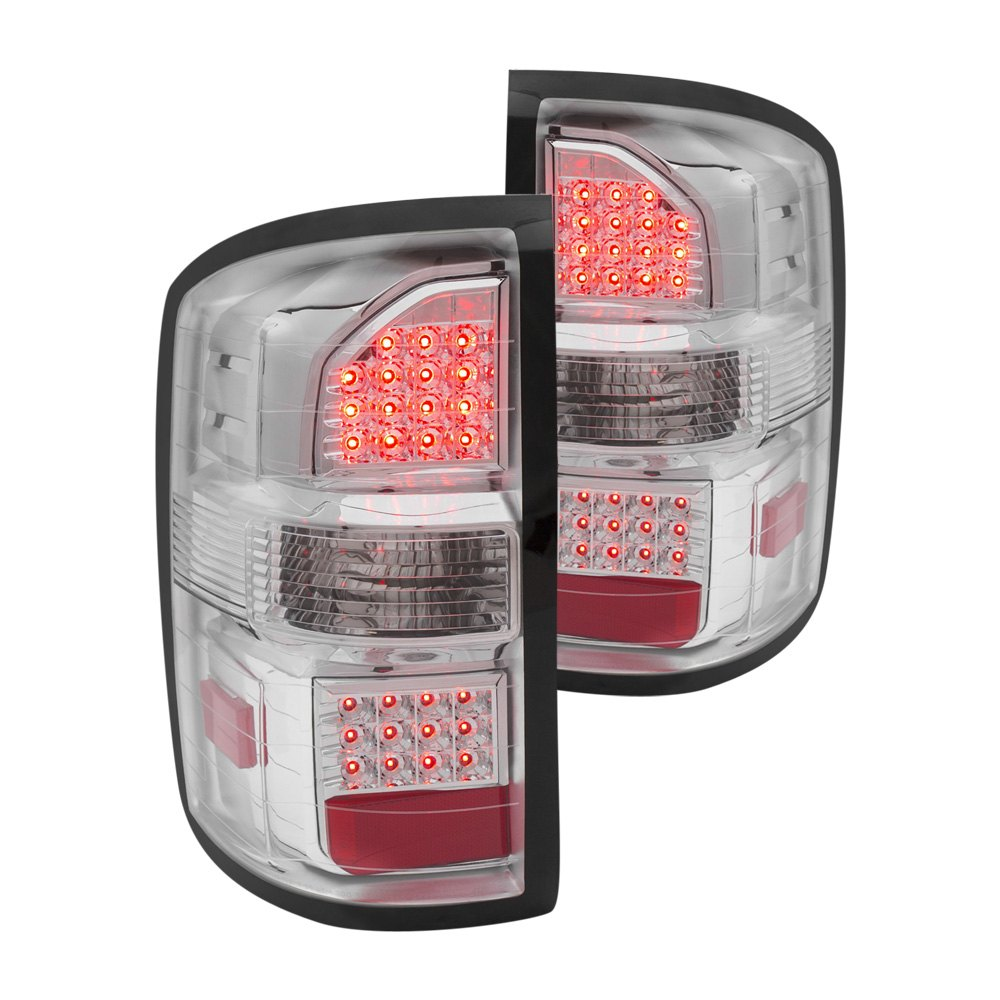 anzo 311219 gmc sierra 2014 chrome led tail lights. Black Bedroom Furniture Sets. Home Design Ideas