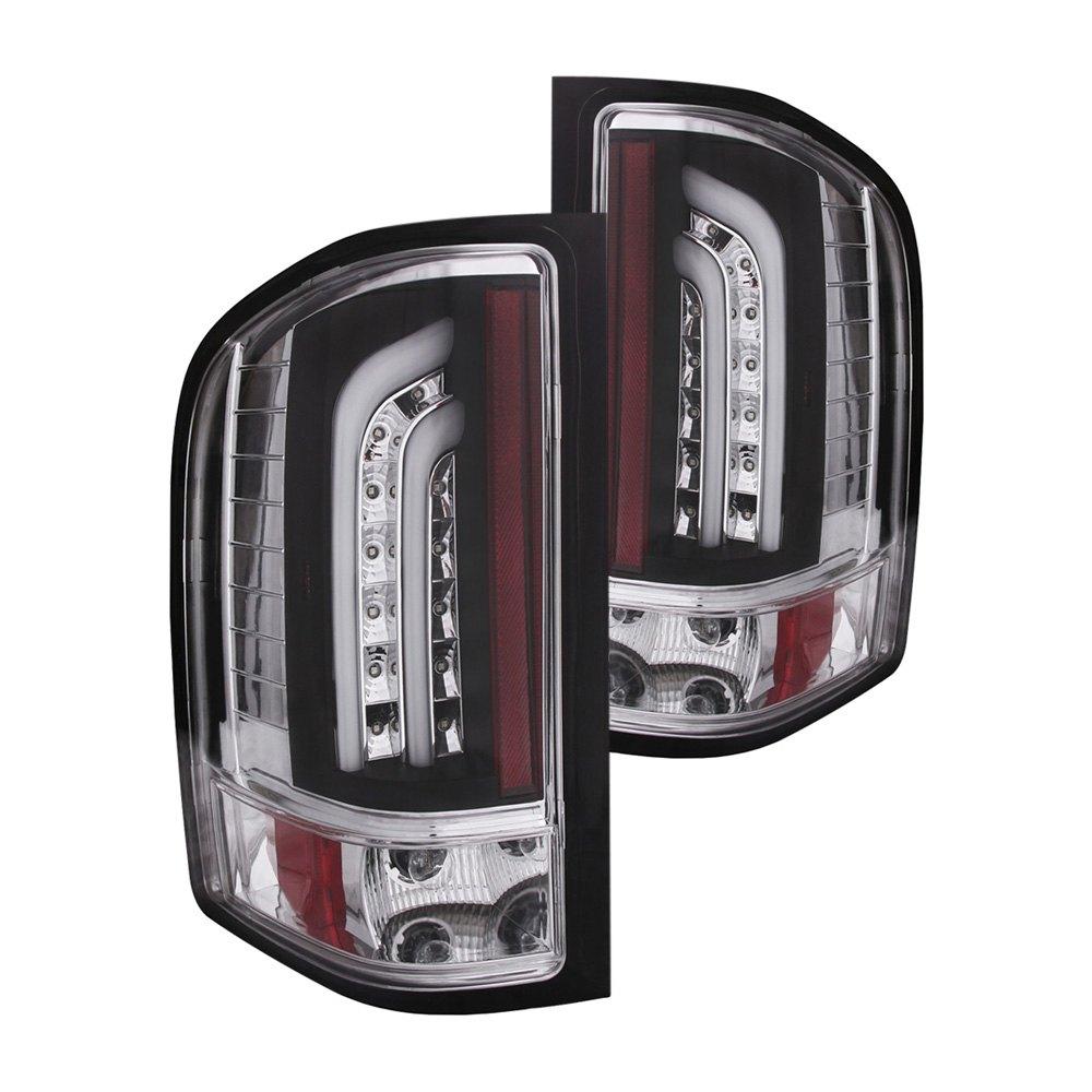 Silverado Led Lights : Anzo® 311223 - Chevy Silverado 2008 Black LED Tail Lights G2