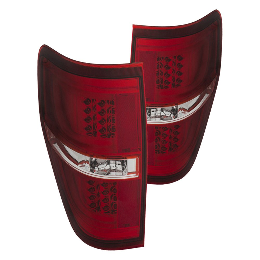 anzo 311260 ford f 150 2013 red clear led tail lights. Black Bedroom Furniture Sets. Home Design Ideas