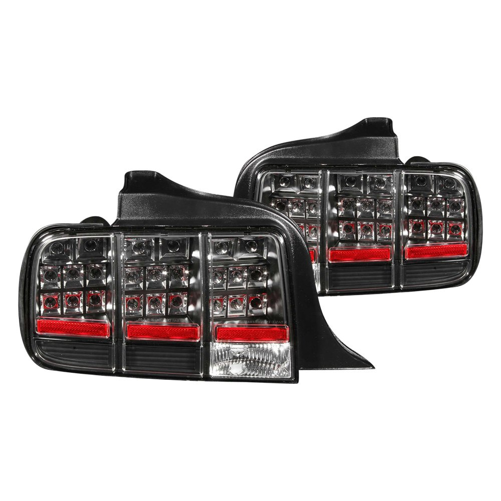 anzo 321020 ford mustang 2005 2009 black led tail lights. Black Bedroom Furniture Sets. Home Design Ideas