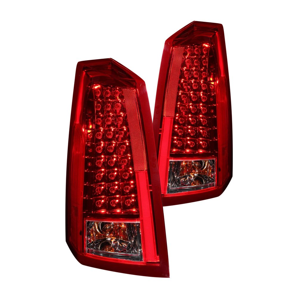 Cadillac CTS 2003 Red/Clear LED Tail Lights