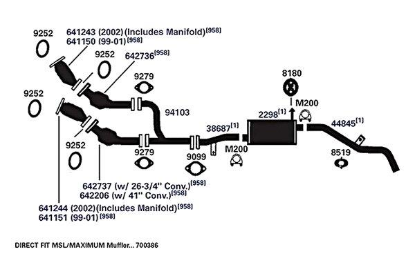 ap exhaust nissan frontier 2001 2002 608 series. Black Bedroom Furniture Sets. Home Design Ideas