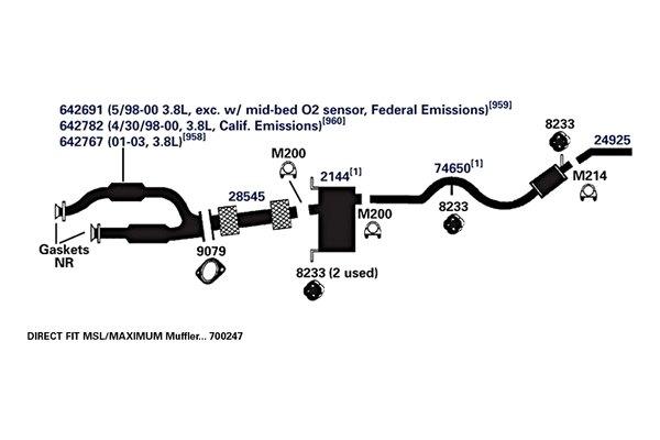 ap exhaust technologies® 9079 exhaust pipe flange gasket 1990 ford aerostar eddie bauer exhaust® replacement exhaust kit