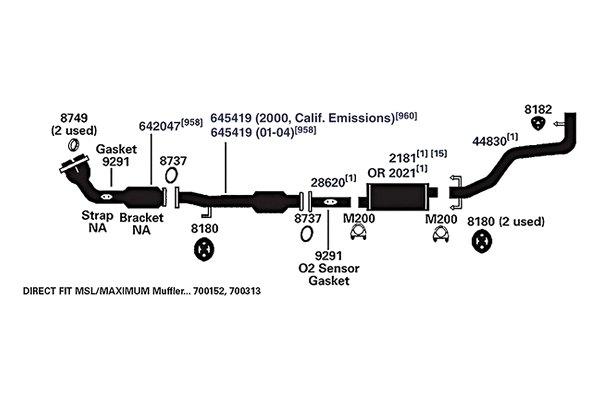2000 Toyota Avalon Exhaust Diagram Circuit Connection Diagram