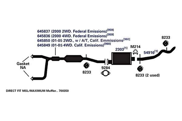 2000 gmc k2500 exhaust diagram  parts  auto parts catalog