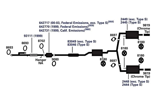 ap exhaust technologies 8702 exhaust pipe flange gasket rh carid com Honda Exhaust System Diagram Ford Exhaust System Diagram