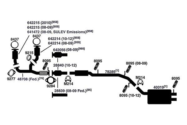 ford flex exhaust system diagram ford ranger exhaust system diagram