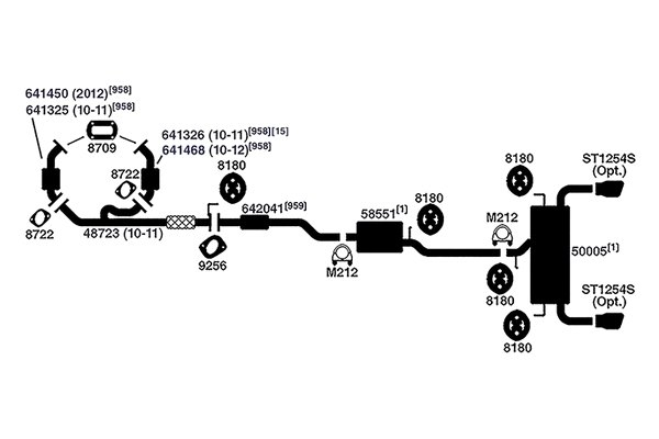 gmc stock exhaust system diagram