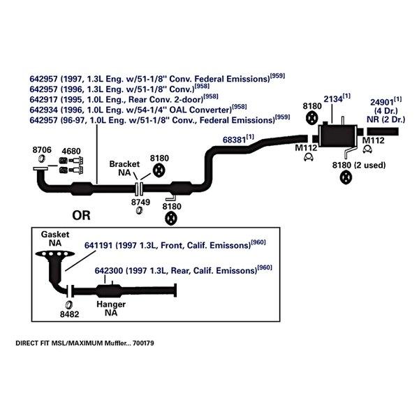 Catalytic Converter AP Exhaust 642957