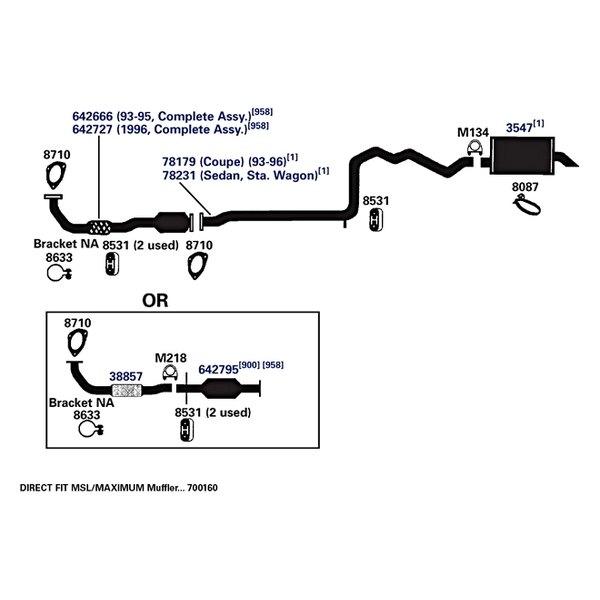 ap exhaust technologies 78231 rear aluminized steel exhaust pipe rh carid com 2002 saturn vue exhaust system diagram saturn l300 exhaust system diagram
