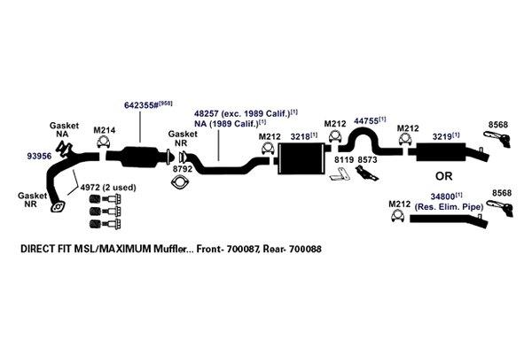 Exhaust Bracket AP Exhaust 8119