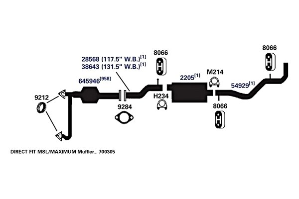 Exhaust Pipe AP Exhaust 38643