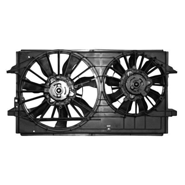 Saturn Aura 2007-2008 Dual Radiator And Condenser Fan