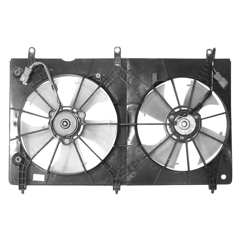 Radiator Cooling Fans : Apdi honda accord l dual radiator and condenser fan