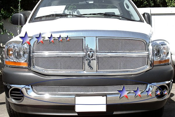 apg dodge ram 2002 chrome wire mesh grille. Black Bedroom Furniture Sets. Home Design Ideas