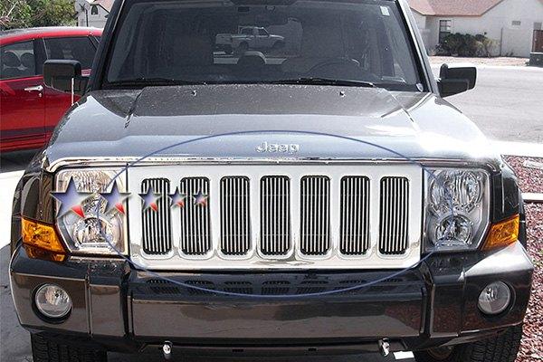 Apg Gr10fed99v Jeep Commander 2007 1 Pc Polished Vertical Billet Main Grille