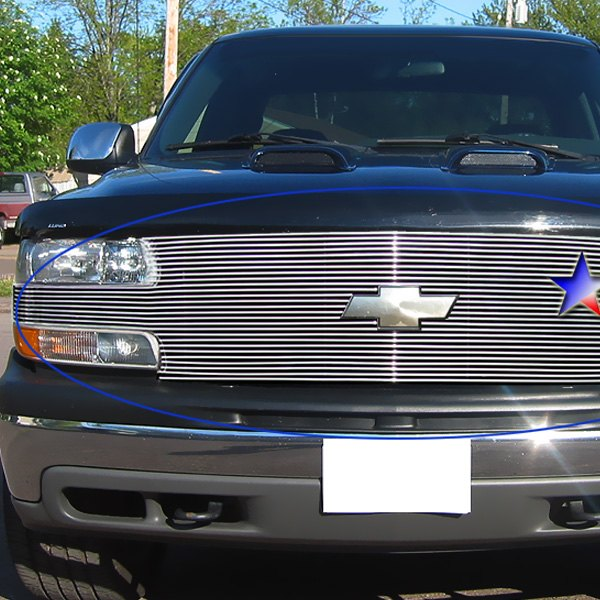 Chevy Tahoe 2003-2006 Polished Horizontal Billet Grille