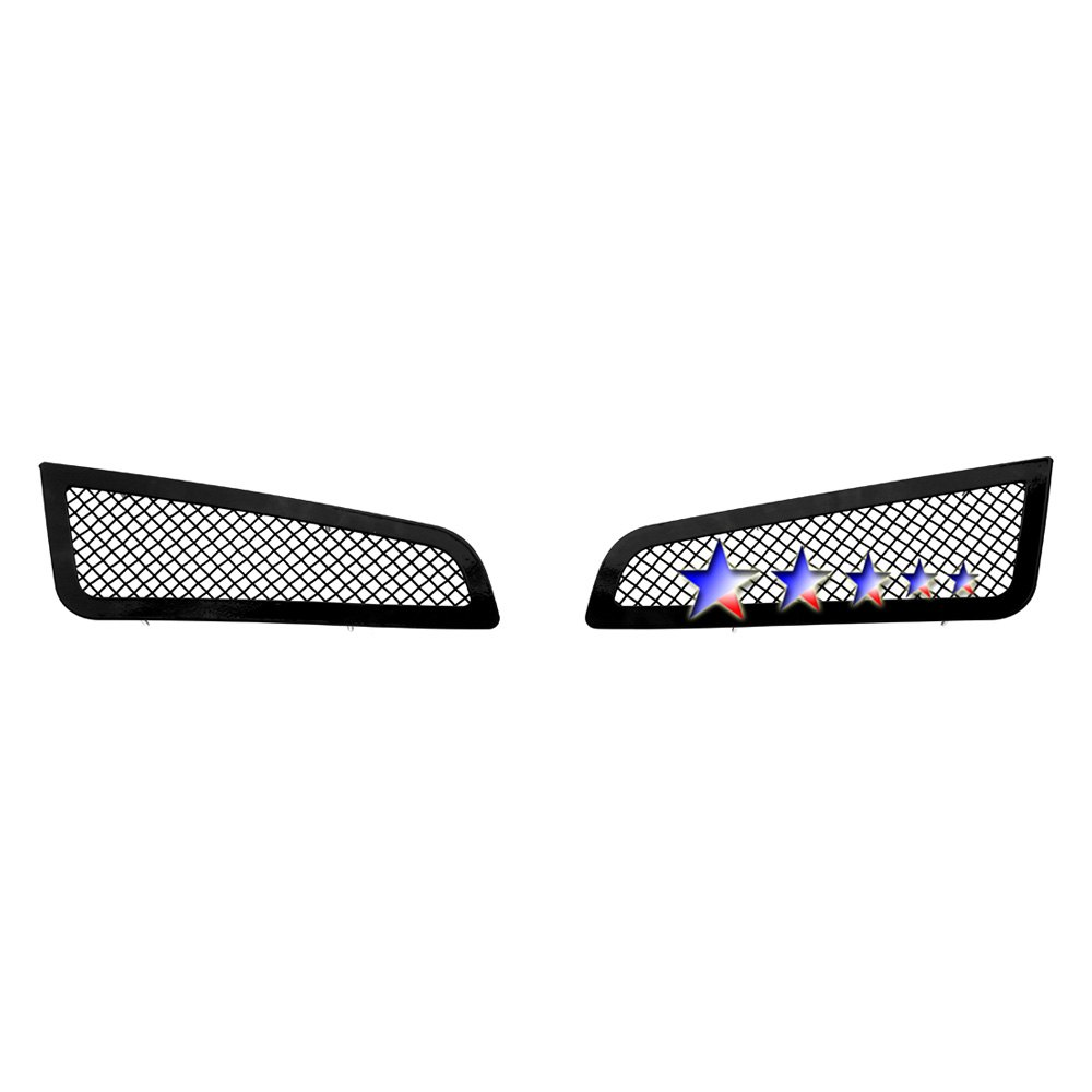 14 Cadillac Ats: For Cadillac ATS 13-14 APG 2-Pc Black 1.8mm Wire Mesh Fog Light Grilles