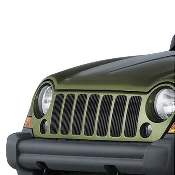 For Jeep Liberty 2005-2007 APG 7-Pc Black Vertical Billet
