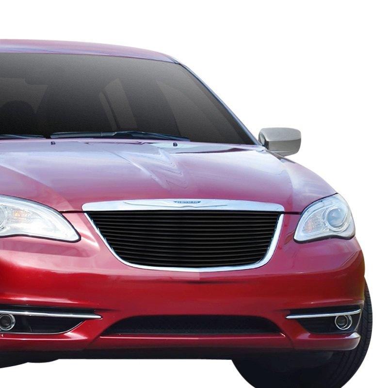 Chrysler 200 2013 1-Pc Black Horizontal Billet Main