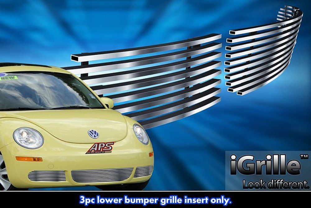 APG® GR22FEE16C - 3-Pc Hairline Horizontal Billet Bumper Grille
