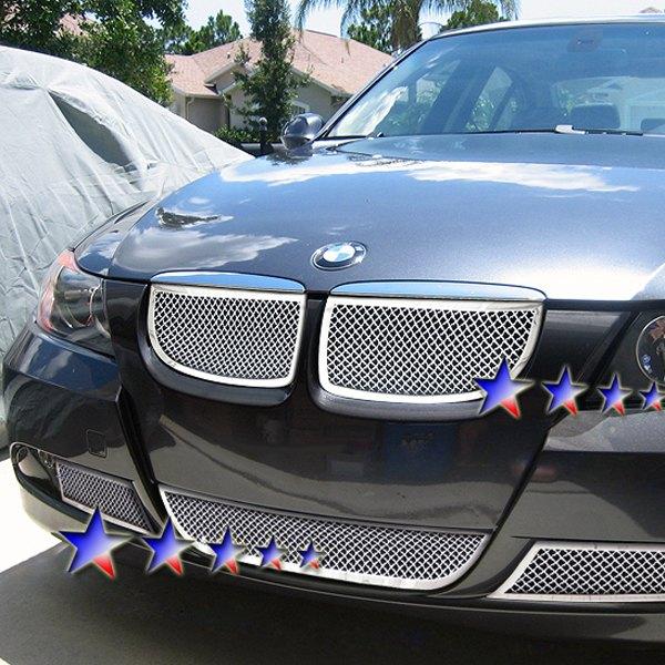 BMW 325i / 330i 2006 2-Pc Chrome 1.8mm Wire Mesh