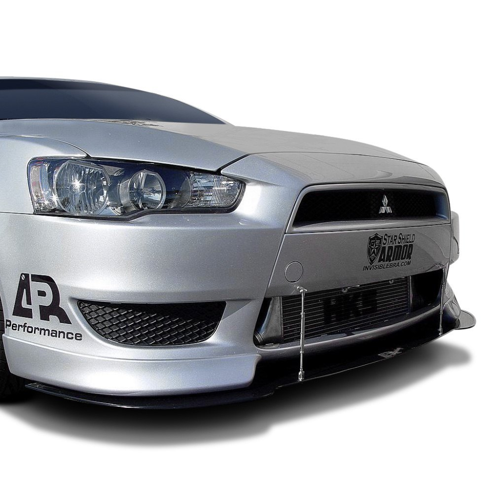 APR Performance® CW-484010+CW-100010 - Carbon Fiber Front Wind Splitter  with Rods