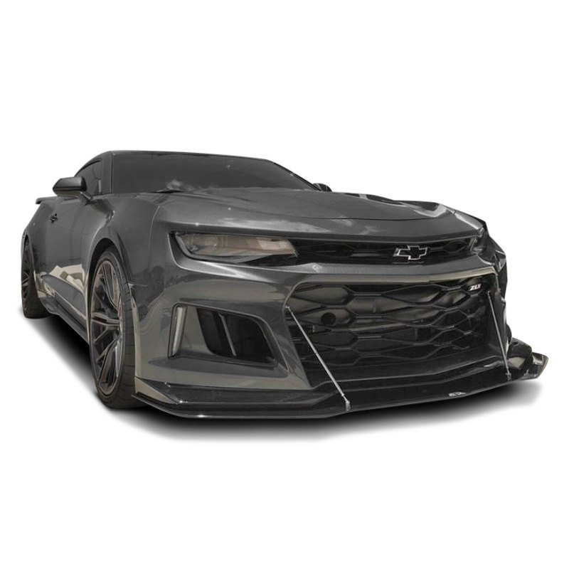 Carbon Fiber Rods >> APR Performance® - Chevy Camaro 2017-2018 Carbon Fiber Front Wind Splitter with Rods