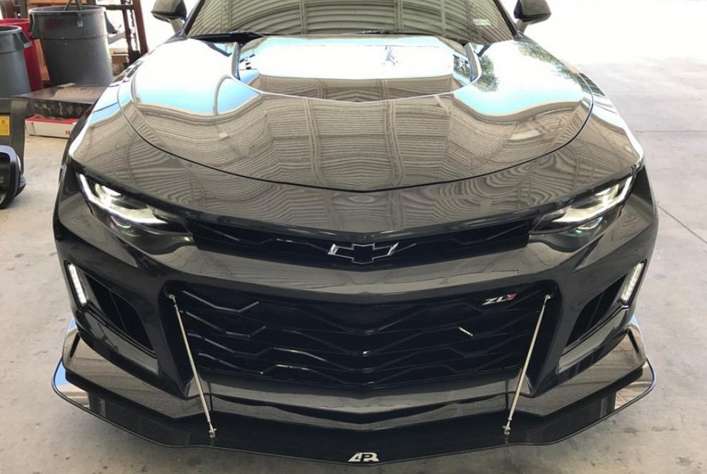 Apr Performance 174 Chevy Camaro 2018 Carbon Fiber Front Wind Splitter With Rods