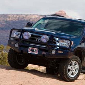 ARB® - Deluxe Full Width Black Front Winch HD Bumper with Grille Guard