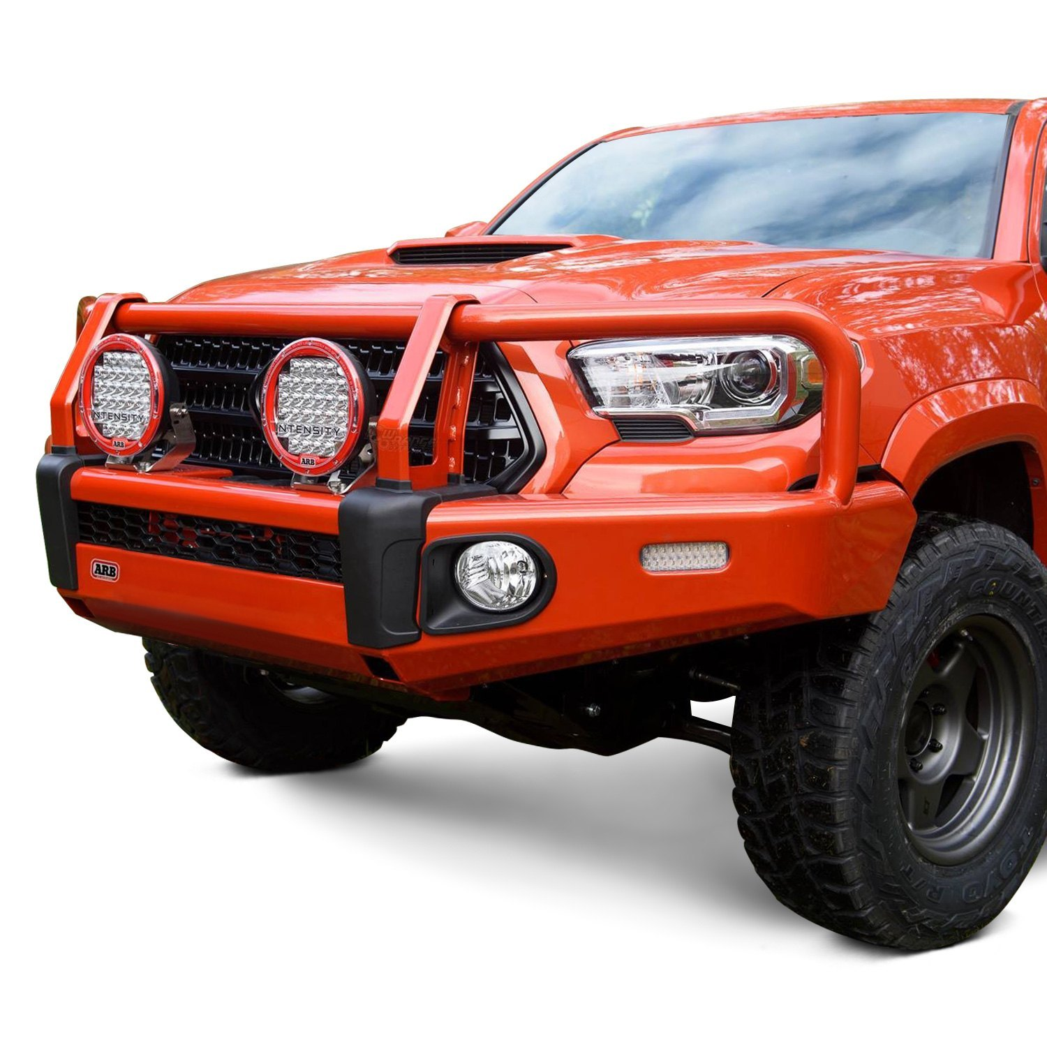 arb toyota tacoma 2016 2017 summit full width front winch hd bumper with grille guard. Black Bedroom Furniture Sets. Home Design Ideas