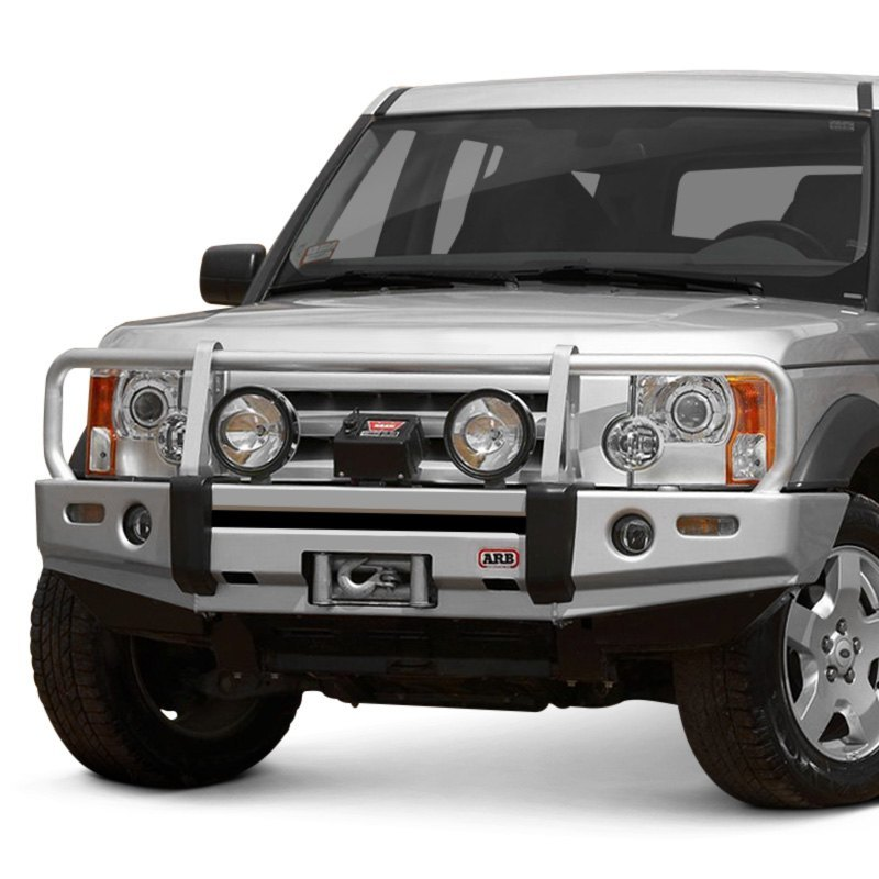 Land Rover Lr3 Off Road Wheels >> ARB® - Land Rover LR3 2006 Deluxe Full Width Black Front Winch HD Bumper with Grille Guard