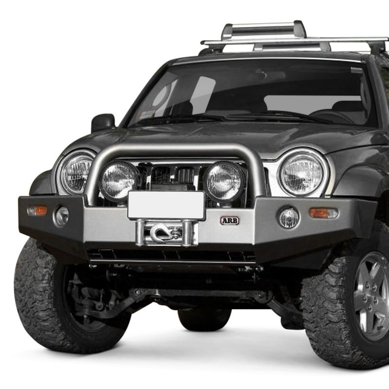 arb jeep liberty 2005 2007 deluxe full width front winch hd bumper with grille guard. Black Bedroom Furniture Sets. Home Design Ideas