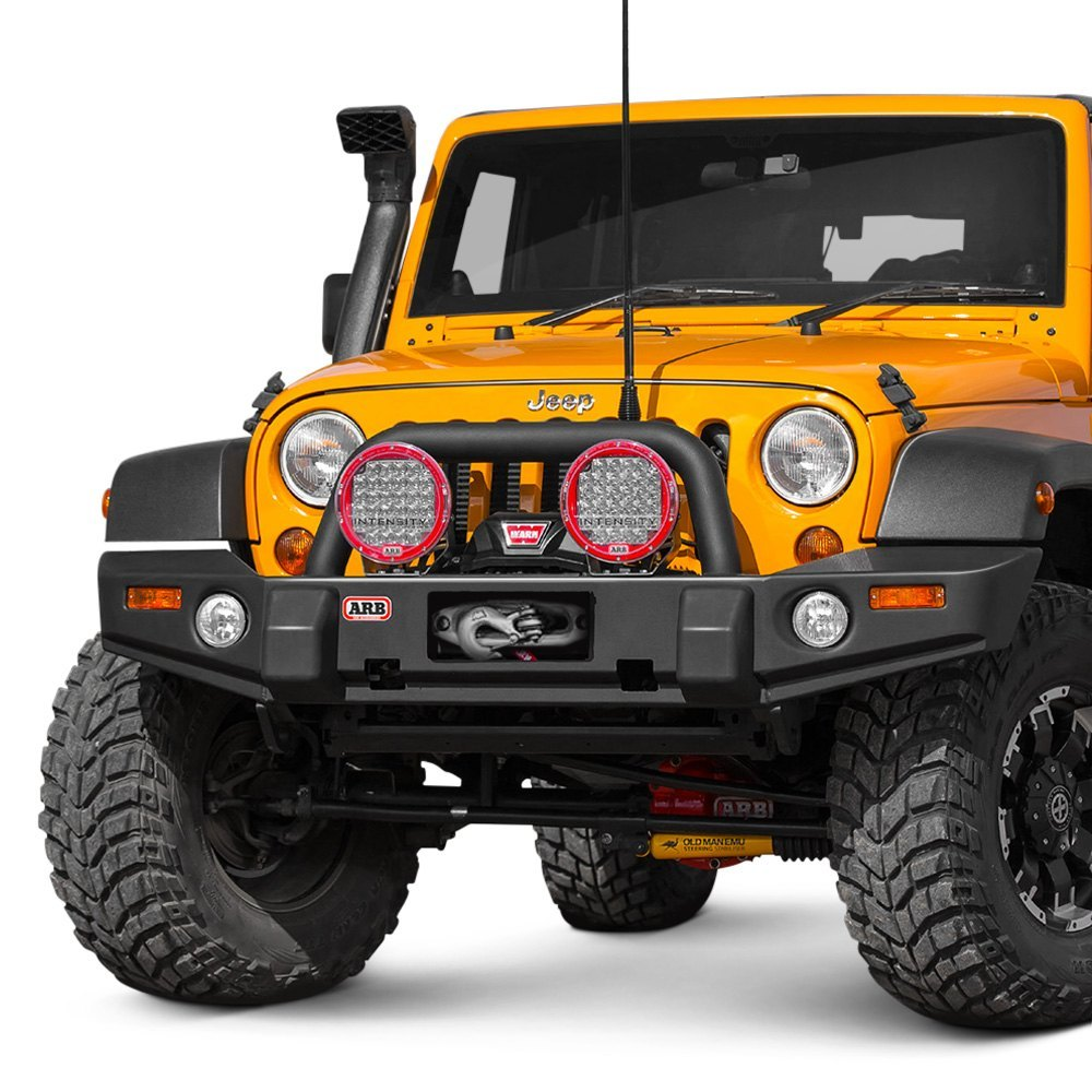 Arb 174 3450240 Full Width Black Front Winch Hd Bumper With