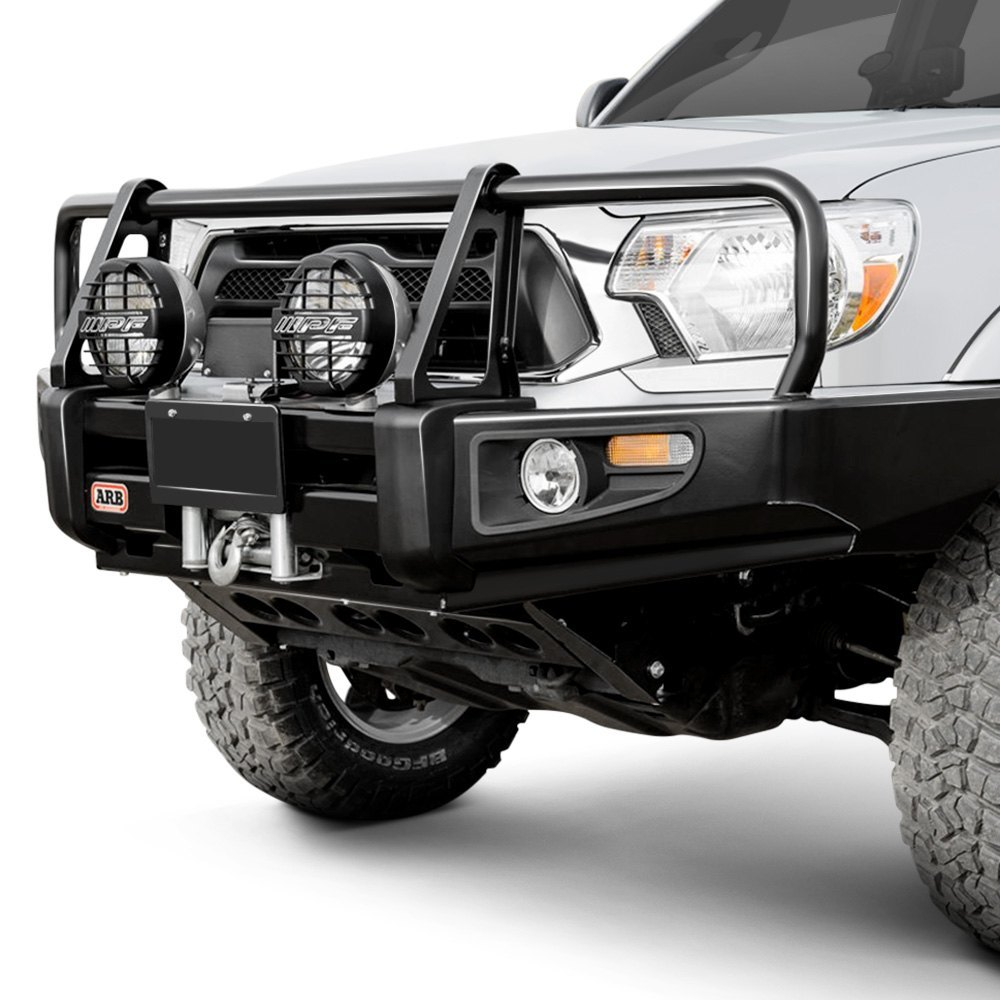 Arb Deluxe Full Width Black Front Winch Hd Bumper With Grille Guard