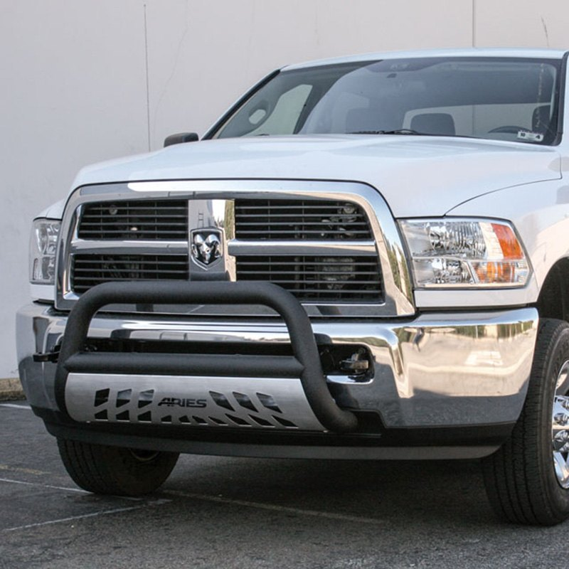 Aries toyota tacoma 2016 2018 3 pro series black bull bar with 3 pro series black bull bar with brushed skid plate installed aries mozeypictures Image collections