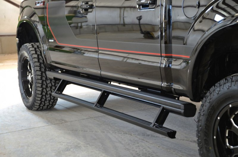 Power Running Boards >> Aries 3 3 Actiontrac Retractable Black Running Boards