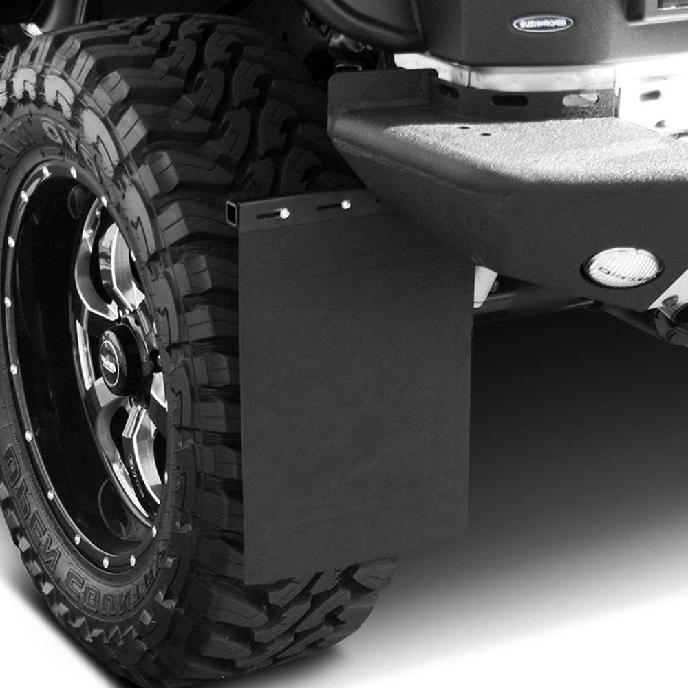 Semi Mud Flaps >> Aries® - Removable Black Carbon Steel Mud Flaps