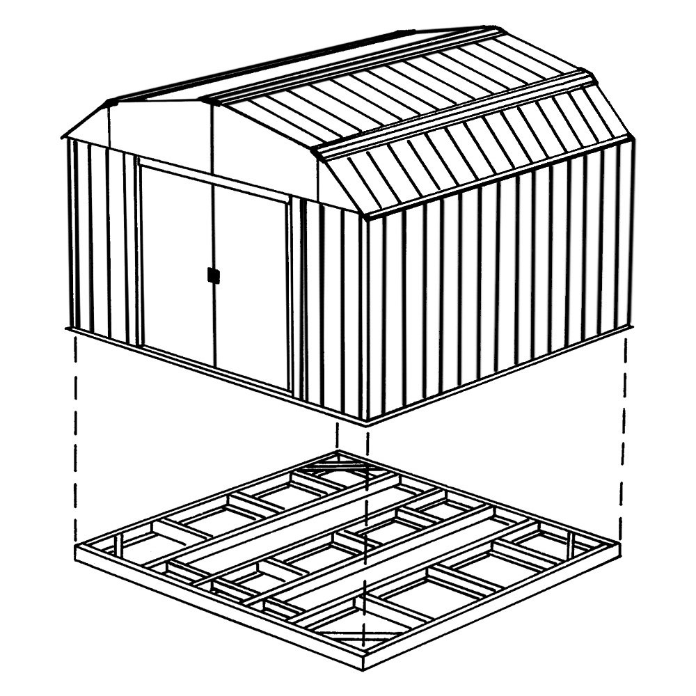 Arrow storage fdn109 base kit for 8 39 x8 39 10 39 x8 39 10 39 x9 for 10 x 8 metal shed with floor