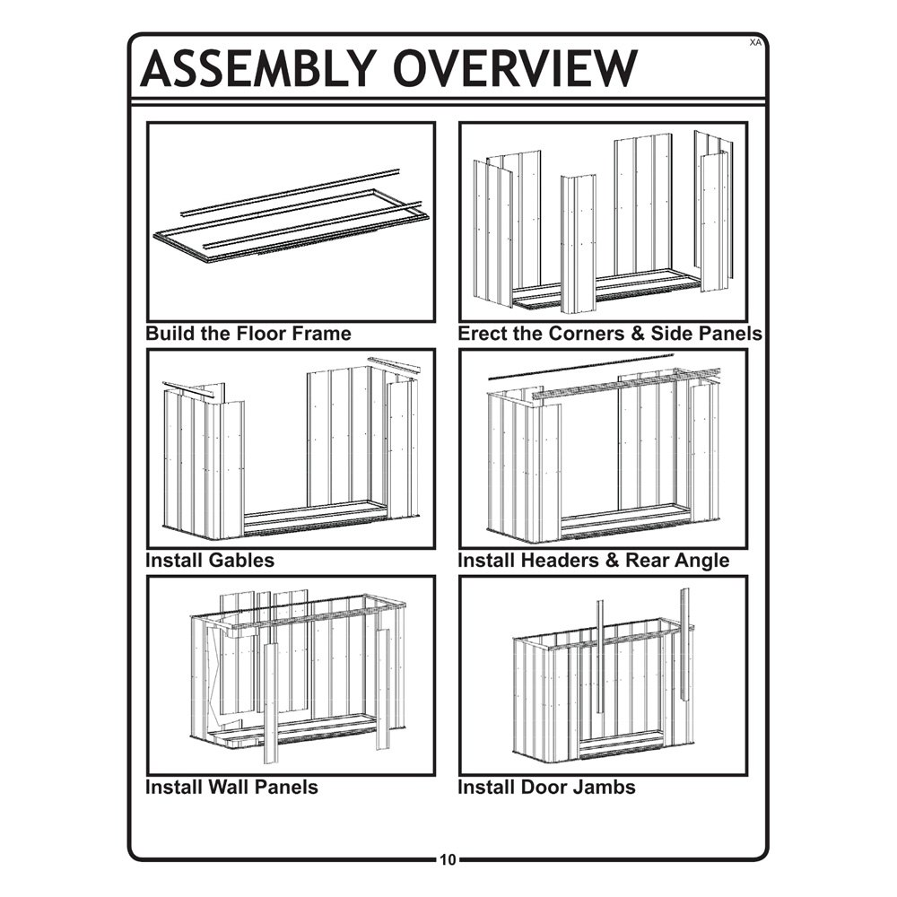 Arrow storage gs83 c 8 39 x 3 39 garden shed for Garden shed repair parts