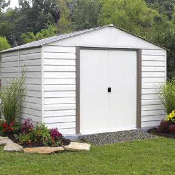 Arrow storage vm1012 10 39 x 12 39 vinyl milford shed for Garden shed repair parts