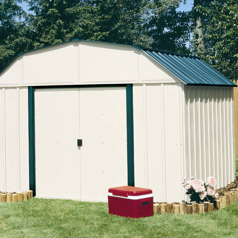 Arrow storage vs1014 10 39 x 14 39 vinyl sheridan shed for Garden shed repair parts