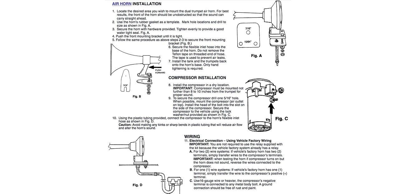 Air Horn Installation  sc 1 st  CARiD.com : air horn wiring diagram - yogabreezes.com