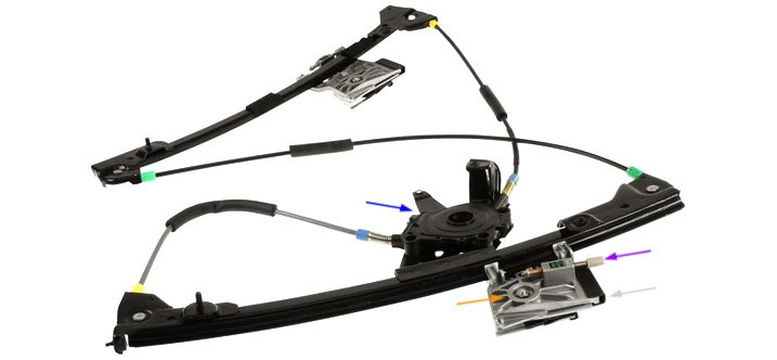 Cable Operated Window Regulator