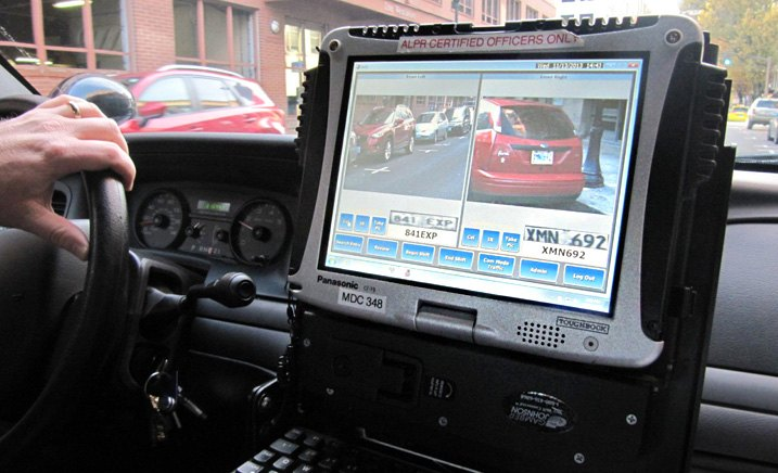 Automated License Plate Reader In Patrol Car
