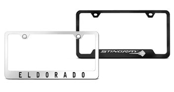 License Plate Frames With Corner Cutouts