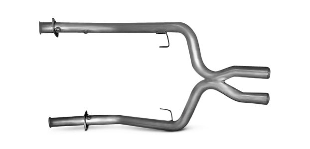 Typical X-Pipe Exhaust Section